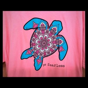 "Simply Southern Turtle ""Be Fearless"" Tee - XL"